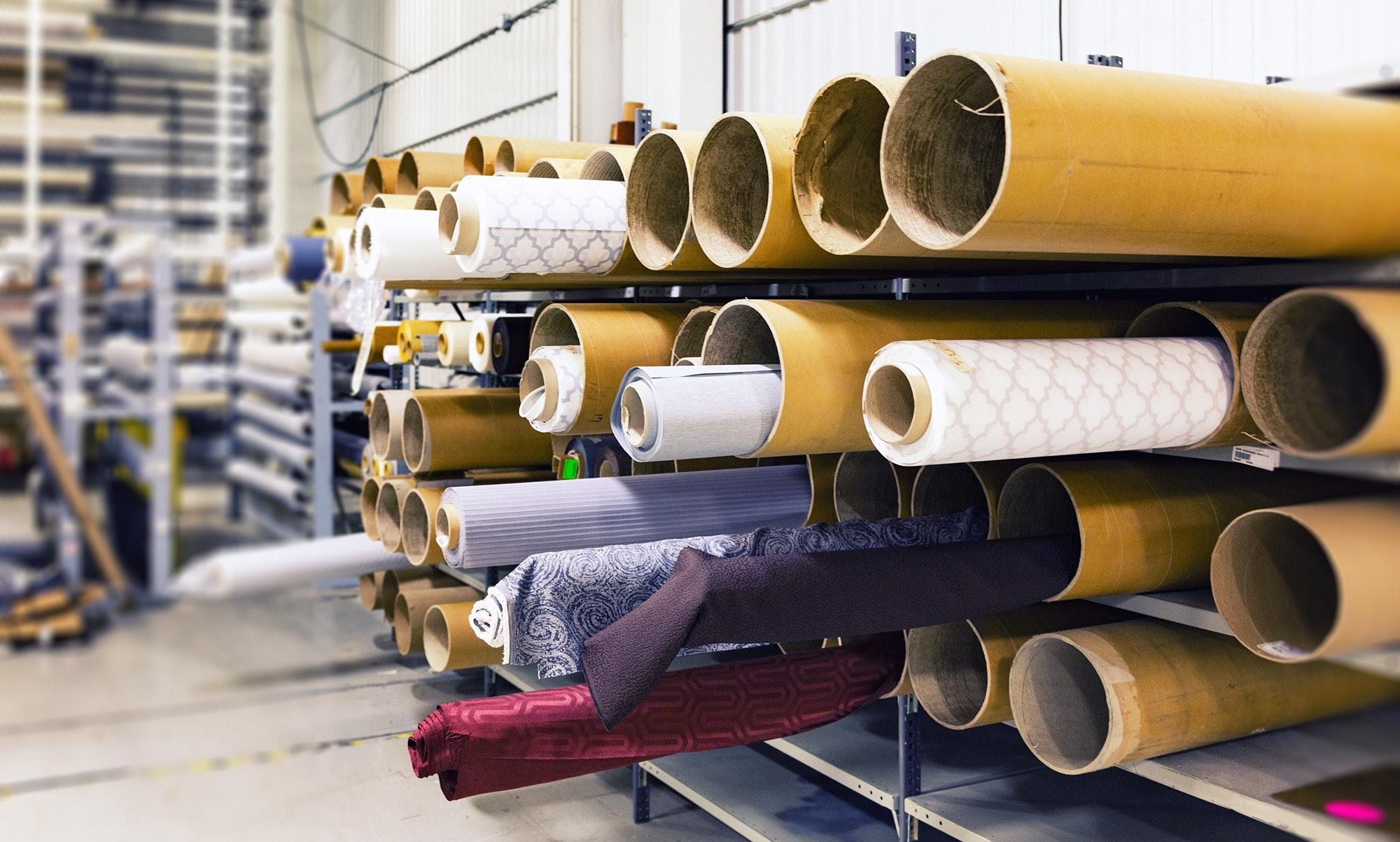 Många olika textilier